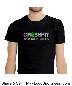 CrossFit Beyond Limits Male ATHLETE shirt Design Zoom